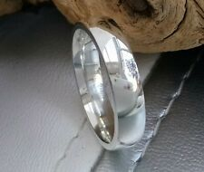 QUALITY STRONG GENT'S STERLING SILVER PLAIN 5mm W BAND RING 925 WED ENGAG UNISEX