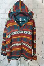 VTG Woolrich Southwestern Native American Hooded Blanket Jacket Barn Coat Large