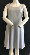 BNWT REISS Pretty Powder Blue Pocketed Sleeveless Shift Dress UK Size 14