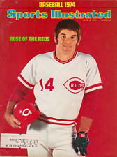 """Sports Illustrated April 8, 1974 """"Rose of the Reds"""" Pete Rose"""
