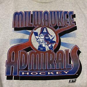 Milwaukee Admirals Vintage Logo 7 Hockey Men's Sweatshirt L AHL NHL Predators