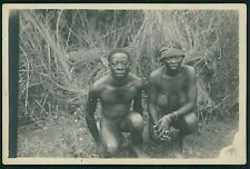 Black Afrina nude male and woman original old 1910s Gelatin Silver photo b