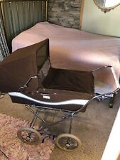 Vintage Perego Brown Velvet Baby Carriage Buggy Stroller Pram