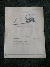 New Reprint Parts Manual For A New Idea No. 20 Mower