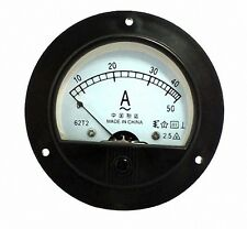 Analog Round AMP Meter + Current trensformer AC 50A [DORL_A]