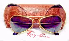 "RAY-BAN NOS VINTAGE B&L AVIATOR ""AIR-BOSS"" 24kGP W2615 PILOT NEW SUNGLASSES&CASE"