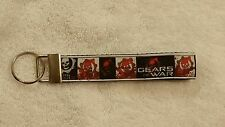 Handcrafted Gears of War Video Game Key Chain Wristlet NEW