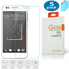 [5 Pack]-Nacodex For HTC Desire 825 HD Tempered Glass Screen Protector