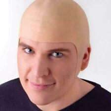 Complexion fake Bald Skinhead Wig Cap Clown Men Women Costume party TI