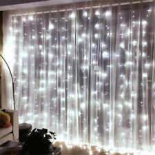 3x3m LED Lichtervorhang Lichterkette Weihnachten Beleuchtung Garten Fenster Deko