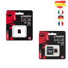 CARD MEMORY KINGSTON CLASS 10 90MB/s MICROSD MICRO SD GB 16 32 64 32GB 64GB