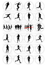 24 edible Running Iced Icing Fondant 4cm Cupcake Toppers Cake