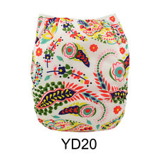 AlvaBaby Reusable Onesize Washable Adjustable Cloth Diaper Nappy +1Insert Yd20