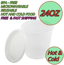 24oz Heavy Duty Food Storage Meal Prep Deli Container Premium Lunch Salad Snack