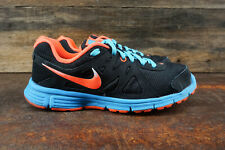 Nike Revolution 2 554900-009 Womens Size 8 Running Shoes Black Pink Blue