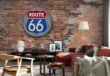 17'' Gray Rt 66 Dome Sign Automotive Metal Sign, Home, Man Cave, Bar Decor Usa