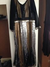 Black Gown Dress With Sequins Size 10/12 Wedding/party/Eid//Diwali