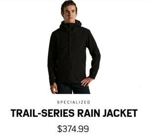 Specialized Trail Series Deflect Rain Jacket Men MEDIUM Black Mountain Bike $375