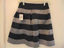 Nwts FSR Live Life Junior's Black & Silver Textured Cupcake Skirt - Nwts