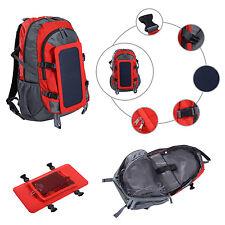 Homcom 6.5W panneau solaire puissance chargeur sac à dos camping escalade randonnée sac à dos
