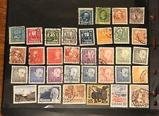SWEDEN  postage stamps lot of 34 old