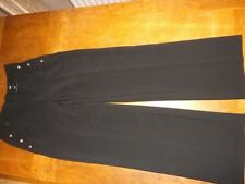 Wide Leg Polyester High Trousers for Women