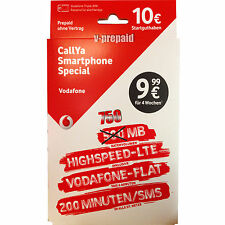 01525 622 1991 VIP Vodafone D2 Callya Smartphone SPECIAL Card 10€ LTE 4G 750MB
