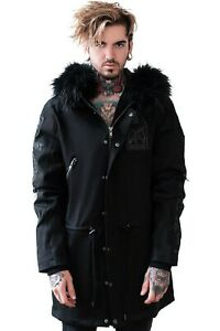 Killstar Lost Parka Goth Jacket Coat Size M