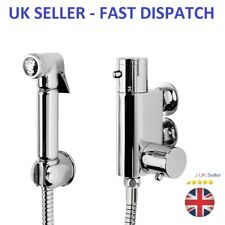 Brass Shataf Douche Kit Bidet Toilet Thermostatic Valve Chrome Shower Muslim UK