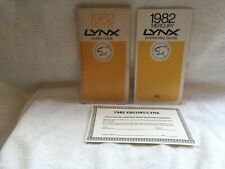 1982 FORD LYNX OWNER AND OPERATING MANUAL PLUS EXTRA