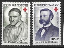 FRANCE 1958 RED CROSS FUND  SG 1411-1412 SET 2 MLH.