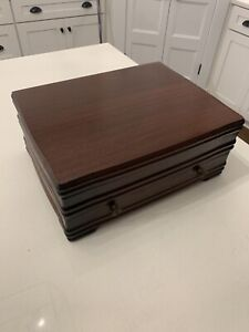 Flatware Silverware Box Storage Chest Case Anti Tarnish Proof Lining With Drawer
