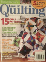 Fons & Porter's LOVE OF QUILTING Jan/Feb '13~15 Quilt Patterns, 5 Scrappy Quilts