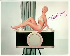 VERA DAY signed YOUNG SEXY IN BIKINI 8x10 COLOR PINUP w/ coa HOT LEGS HIGH HEELS