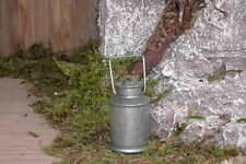 Krippenzubehör - Milchkanne aus Metall zum Öffnen