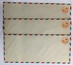 SCOTT #UC3 (Border b) (3) Unused Pre-stamped Airmail Large Envelopes 1934