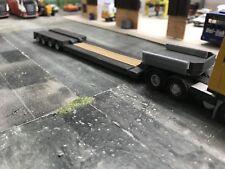 1/76.3D Printed Extendable Low Loader Trailer  1/72 00 Gauge (grey)