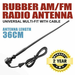 Uhf Radio Antenna Black Rubber Duck AM/FM With Cable Suits 4X4 Car Truck Caravan