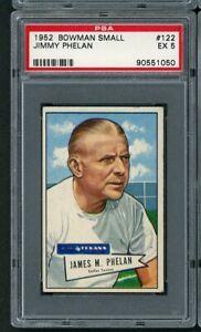1952 Bowman Small Jimmy Phelan #122 Texans PSA 5 EX