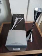 More details for robert welch stainless steel arden candlestick, never used, original box & tag.