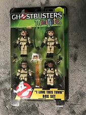 GHOSTBUSTERS MINIMATES I LOVE THIS TOWN BOX SET WINSTON PETER RAY EGON HT
