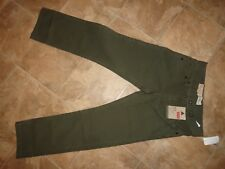 "Boy's Levis 513 Slim Straight ""Ivy Green"" Pants Size 12 NWT"