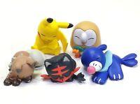 NEW 5Pcs Japan TAKARA TOMY Pokemon Pikachu Rowlet Litten Popplio Figure Kid Toys