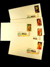 USPS  SET OF 5  LATIN MUSIC LEGENDS  Digital Color FIRST DAY COVERS POSTMARK