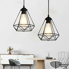 Industrial Wire Cage Style Retro Ceiling Pendant Light lamp Shade Metal Easy Fit