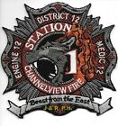 """Channelview  Engine-12 / Dist.-12 / Med-12, Texas (4.5"""" x 4.5"""") fire patch"""