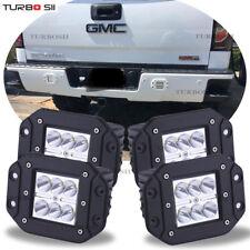 For GMC Sierra Yukon Flush Mount Backup Reverse Rear+Front Bumper 4x Led Lights