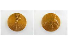 """RARE médaille en bronze JEAN MOULIN -  """"Et mourir sans parler"""" 1943-1983"""