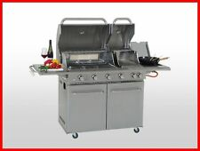 Coobinox Edelstahl Gasgrill 4 Brenner DOUBLE POWER Griller Grillwagen Sizzle Bac