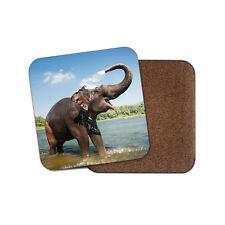 1 X Gold Indian éléphants-Round Coaster Cuisine étudiant enfants cadeau #8856